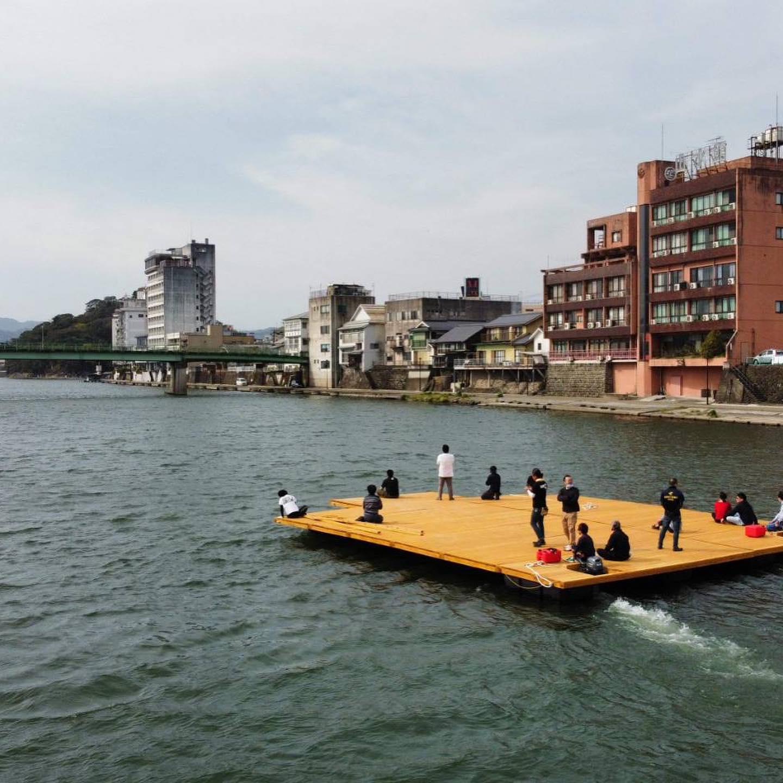 三隈川水上ステージ復活!